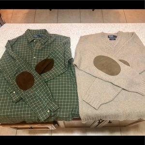 Polo shirt/elbow patches and Polo sweater/patches
